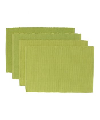 Lime Citrus Blossom Place Mat - Set of Four