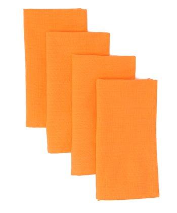 Orange Citrus Blossom Napkin - Set of Four