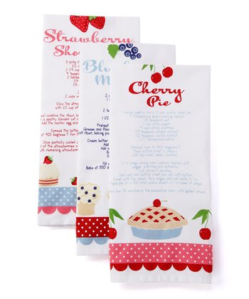 Sweet Baking Recipe Dish Towel Set