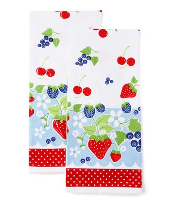 Berry Sweet Baking Dish Towel - Set of Two