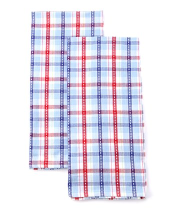 Berry Sweet Plaid Baking Dish Towel - Set of Two