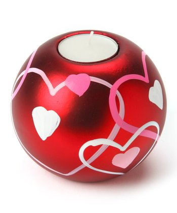 Design Imports Hearts Large Tea Light Ball