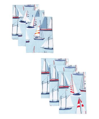 Sailing Napkin - Set of Six