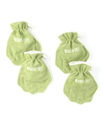 Leaf Terry Microfiber Mitt - Set of Four