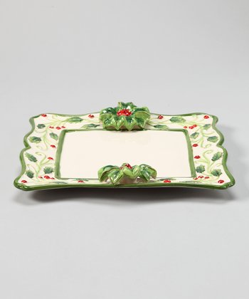 Design Imports Holly Cookie Plate