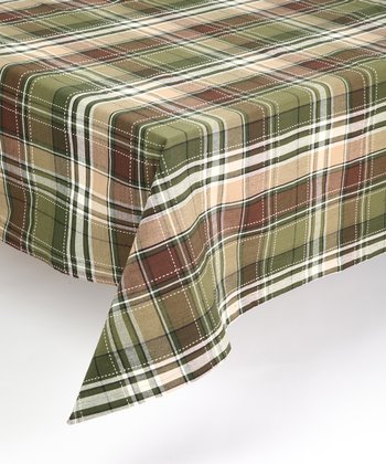Pine Tree Plaid Tablecloth