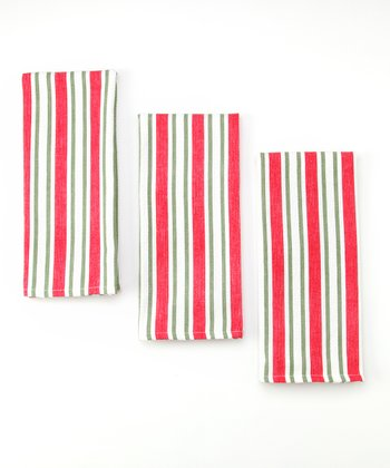 Candy Stripe Dish Towel - Set of Three