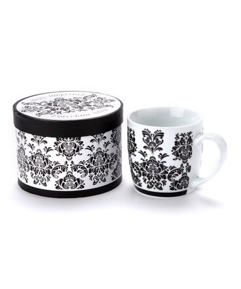 Black Damask Mug & Box