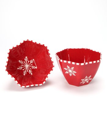 Design Imports Snowflake Candy Bowl