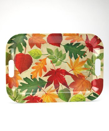 Fall Leaves Tray