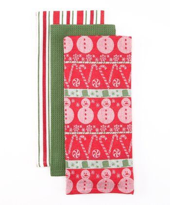Candy Cane Lane Dish Towel Set