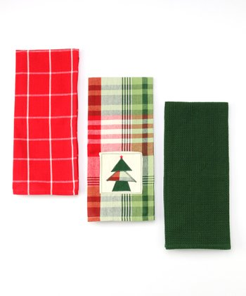 Design Imports Cozy Christmas Dish Towel Set