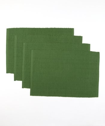 Design Imports Christmas Tree Green Place Mat - Set of Four
