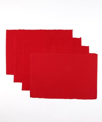 Design Imports Cardinal Place Mat - Set of Four