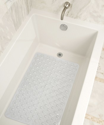 Clear Wave Bath Mat