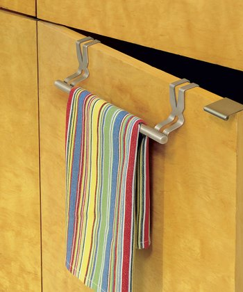 Brushed Over-Cabinet Towel Rod