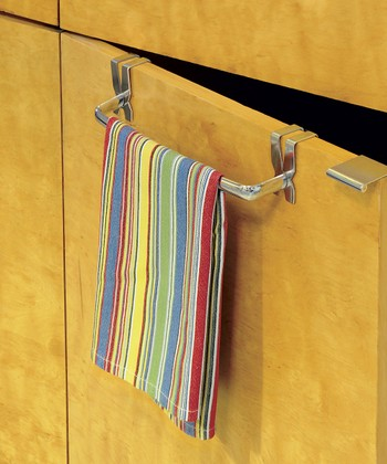 Shiny Over-Cabinet Towel Rod