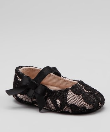 Black Lace Soft-Sole Mary Jane