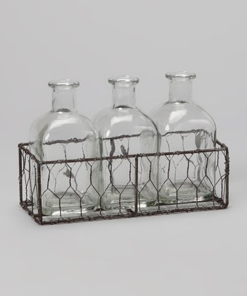 5.5'' Bottle & Wire Basket Set