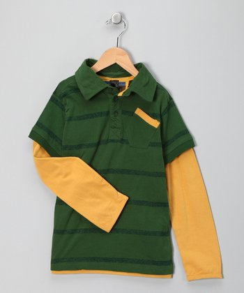 Verde Aventura Layered Polo - Toddler & Boys
