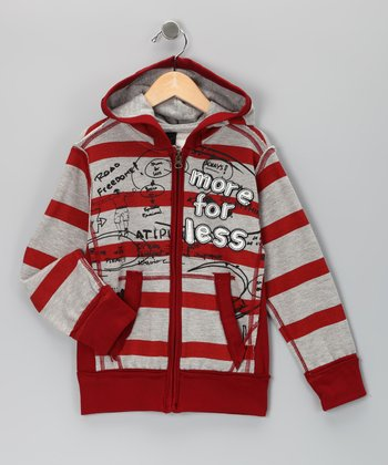 Red Algodon Sweat Bacalao Hoodie - Toddler