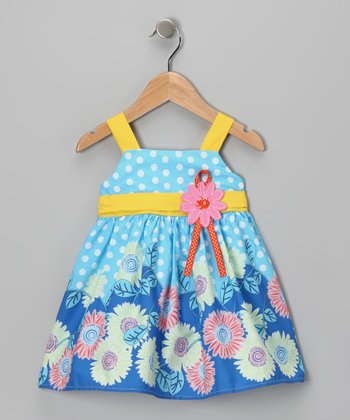 Di Vani Blue & Yellow Floral Dress