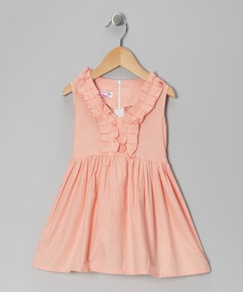 Di Vani Peach Ruffle Dress