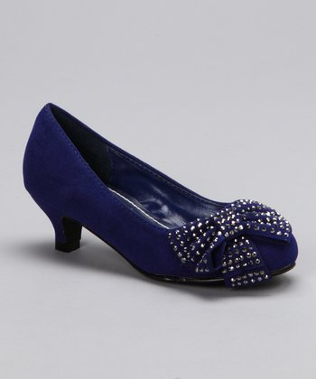 Blue Candy Kitten Heel