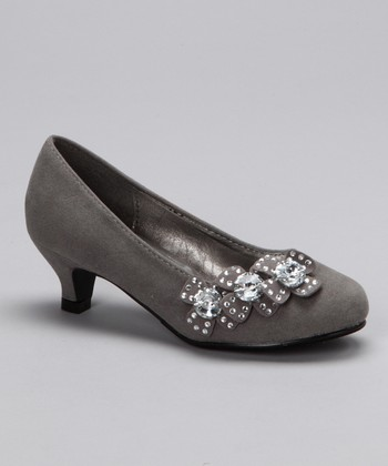 Gray Candy Kitten Heel