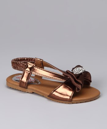 Brown Bow Katie Sandal