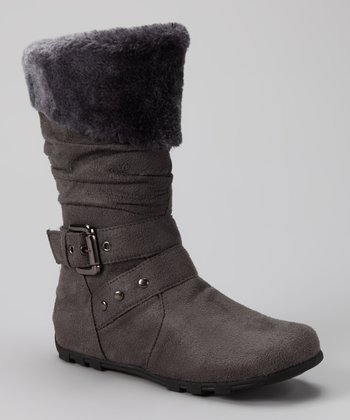 Gray Love-8 Boot