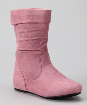 Pink Ruched Love Boot