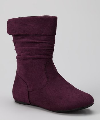 Purple Ruched Love Boot