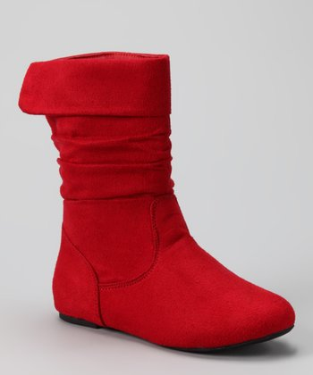 Red Ruched Love Boot