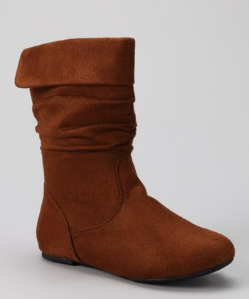 Tan Ruched Love Boot