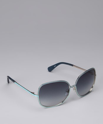 Teal & Aqua Twist Sunglasses