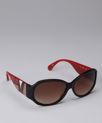 Black & Red Geo Sunglasses