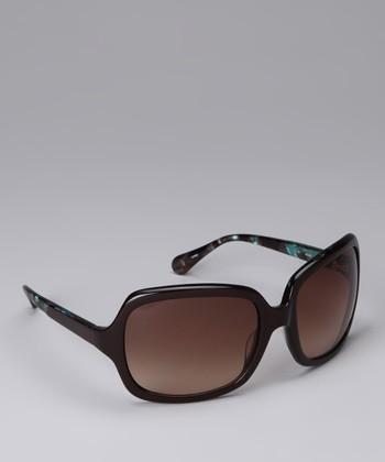 Brown & Teal Sunglasses
