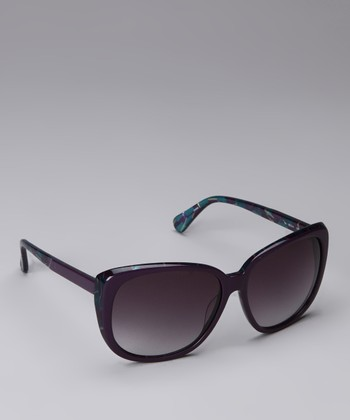 Aubergine Retro Sunglasses