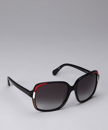 Black & Red Mosaic Sunglasses