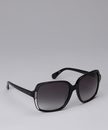 Black & Gray Mosaic Sunglasses