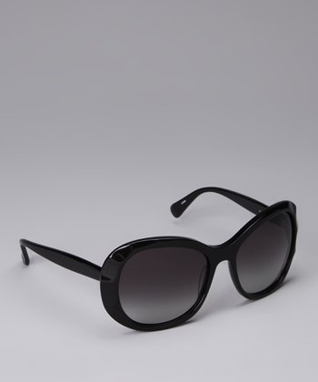 Black Textured Sunglasses