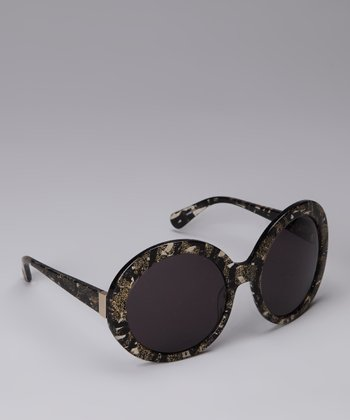 Black Moonglow Gloria Butterfly Sunglasses