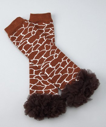 Giraffe & Brown Tutu Leg Warmers