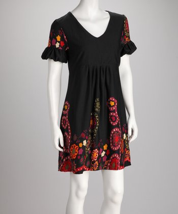 Black & Red Ruffle Dress - Women
