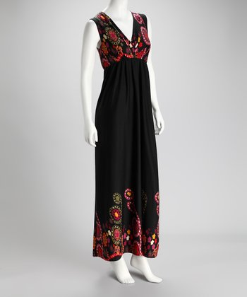 Black & Red Maxi Dress