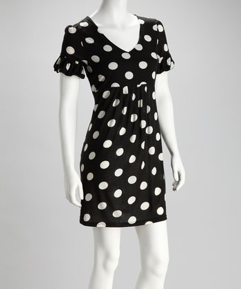 Black & White Polka Dot Ruffle Dress