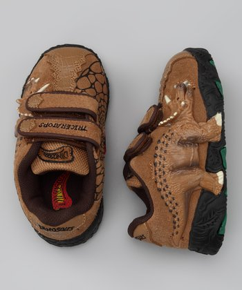 Brown Light-Up 3-D Triceratops Sneaker