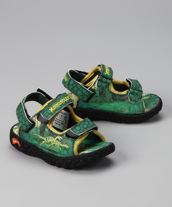 Green Raptor Walkasaurus Sandal