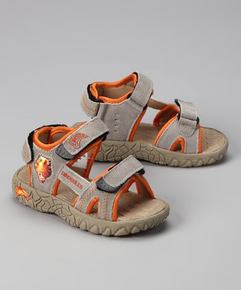 Tan Light-Up T-Rex Walkasaurus Sandal
